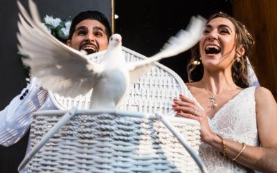 Atrium of Tenafly Wedding – Maral & Jack